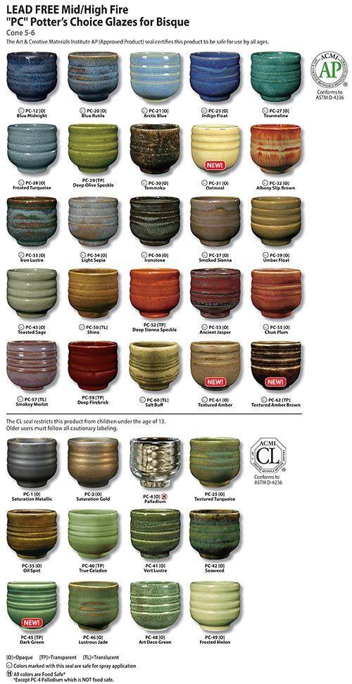 Amaco Potter S Choice Glazes Lead Free Pint Liquid