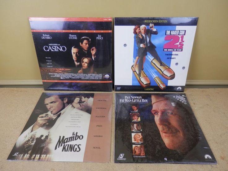 LOT OF 4 LaserDisc Movie Naked Gun 2 1/2 Casino, Mambo Kings, Fat Man Little Boy
