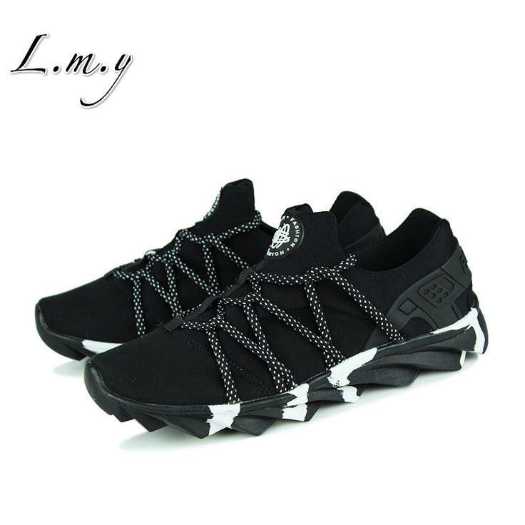 Горячая продаже! Весна 2016 мужская обувь Мода Холст обувь с полосой Подошва популярные мужчины дышащий Плоские мужчин повседневная обувь люксовый бренд