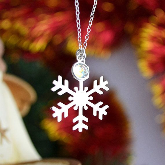 SALE 10% Snowflake Necklace, Sterling Silver Frozen Necklace, Christmas Jewelry, Winter Necklace by malizbijoux. Explore more products on http://malizbijoux.etsy.com