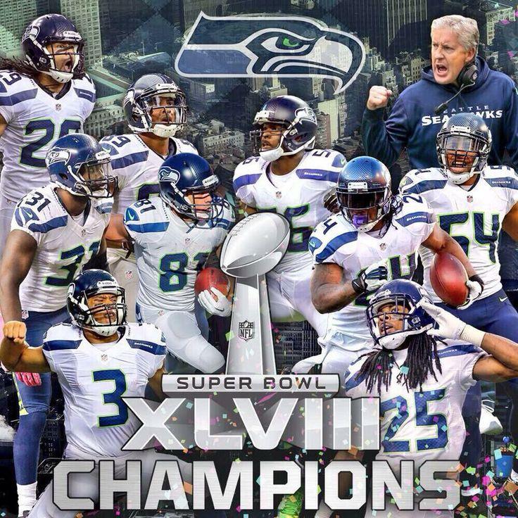 Seattle Seahawks Super Bowl XLVIII Champions 2014!!