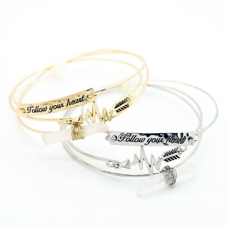 Follow your heart bracelet set