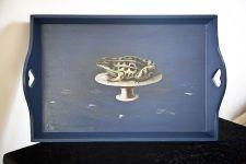 decoupage frog tray