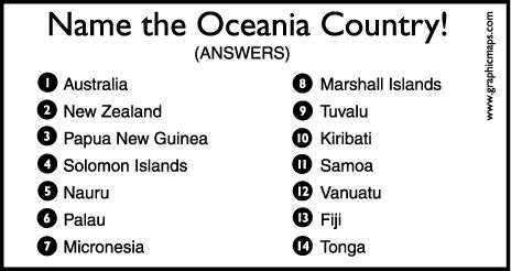 oceaniaa.gif (464×246) | geography | Pinterest | Geography, Map quiz ...