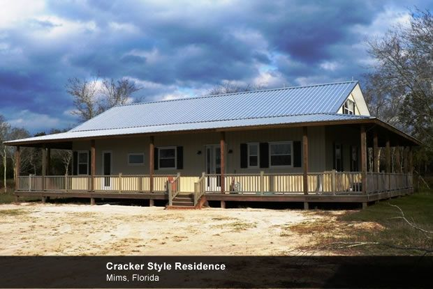 Residential homes metal buildings timbercraft for Metal building house with wrap around porch