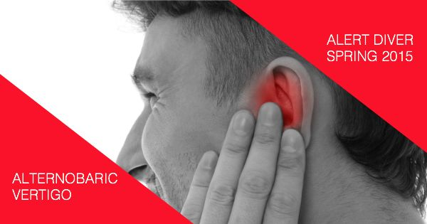 The unequal equalisation of one's ears can cause a type of dizziness described as alternobaric vertigo, a common cause of vertigo that occurs in divers.