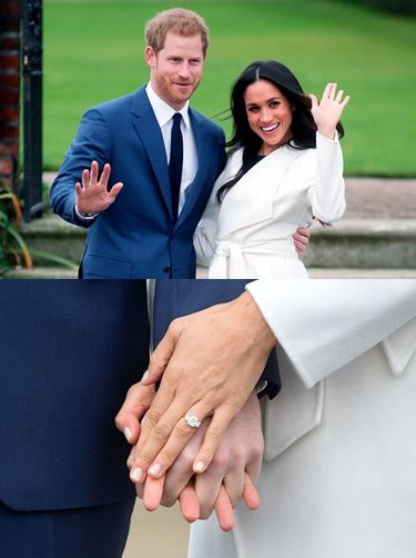 Wonderful news from the Royal Family!  Prince Harry just proposed to Meghan Markle with a stunning engagement ring he designed! Made by the queen's jeweler, Cleave and Co., the three-stone yellow gold ring features a dazzling center diamond from Botswana, a country that holds a special significance for both of them, flanked by two smaller diamonds from the personal collection of Harry's late mother Princess Diana.  Can't wait to witness the next Royal Wedding in Spring18! (source…
