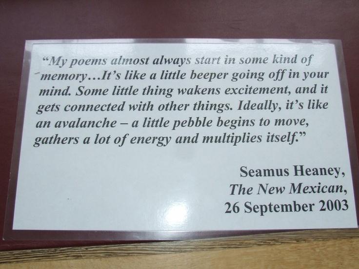 POETRY HELP! What date (year) was Seamus Heaney's 'Mid-term break' written?
