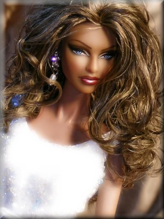 Barbie Hairstyles side parted simple hairstyle Find This Pin And More On Barbie Hairstyles By Brezybaby3