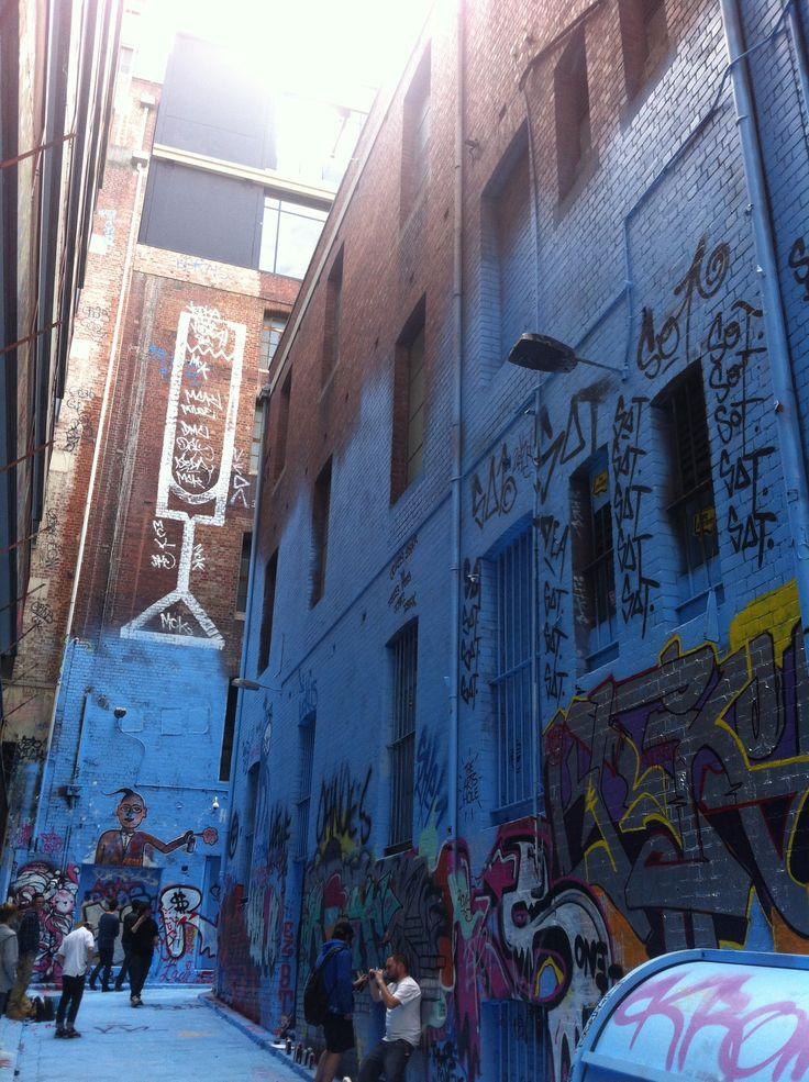 Graffiti EMPTY NURSERY BLUE in Hosier Lane
