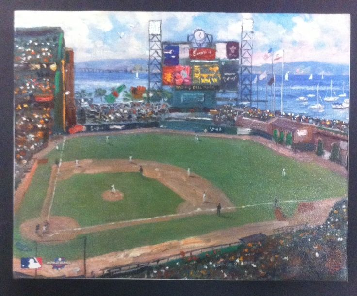 SF Giants World Series 2002 Baseball Champions Canvas Kinkade AT