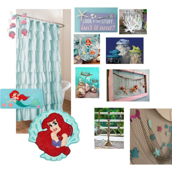 Little Mermaid Bathroom By Jessiiiface On Polyvore Featuring Interior Interiors Interior Design Home