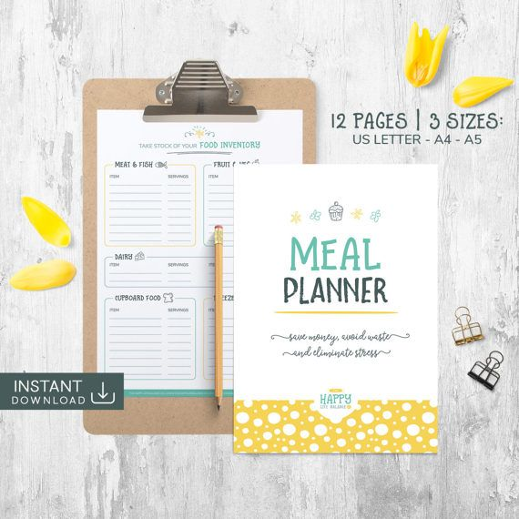 Meal Planner Menu Planning Meal Planning by TheHappyLifeBalance