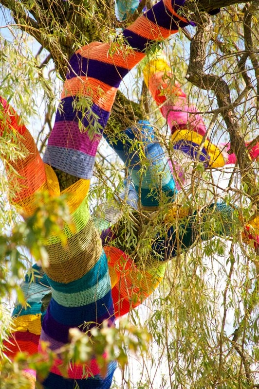Ute Lennartz-Lembeck's Weeping Willow tree sweater in Velbert, Germany