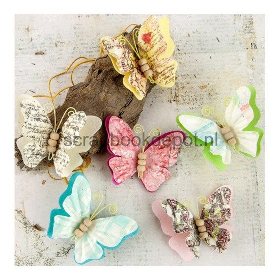 Prima Marketing Garden Fable - Native 2inch Paper Butterflies