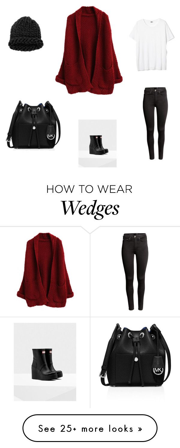 """Made by mom"" by laxsoccerlover36 on Polyvore featuring H&M, Hunter and MICHAEL Michael Kors"