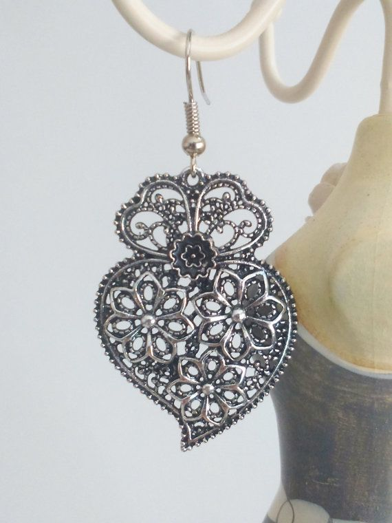 1 Pair of Portuguese filigree earrings silver 35 by ROYALcraftPT