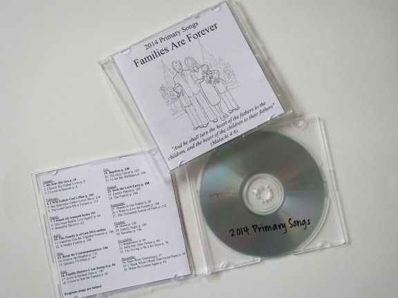 Camille's Primary Ideas: 2014 Primary Music CD-as a Christmas gift at the end of the preceeding year...