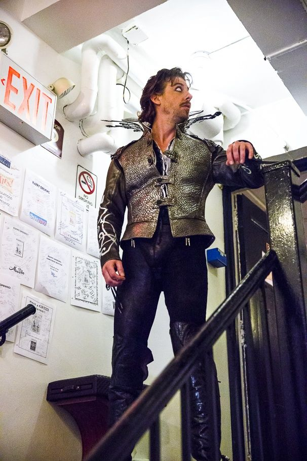 Christian Borle backstage at Something Rotten!