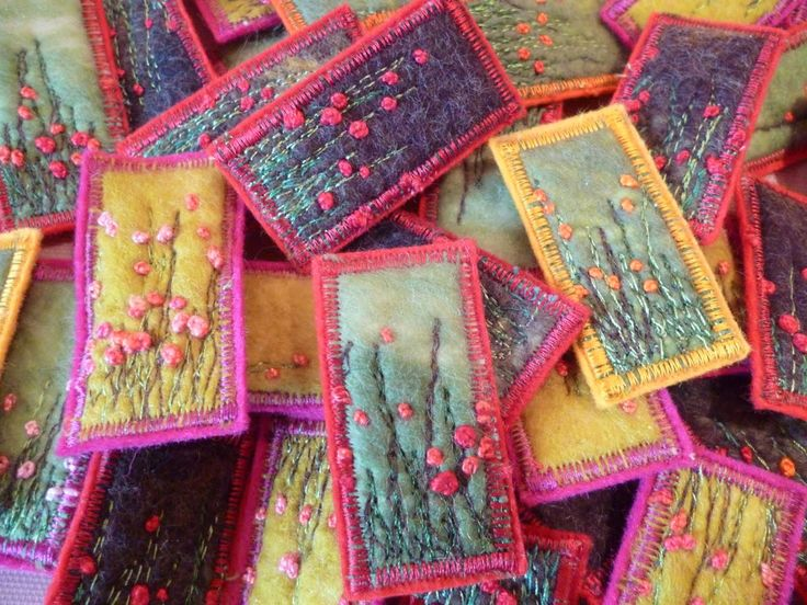 #Embroidery pins - beautiful use of #needlework in jewelry!