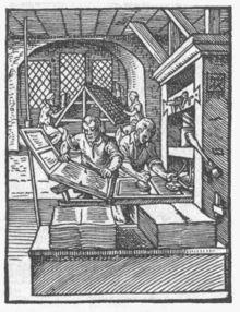 Letterpress in 16th century