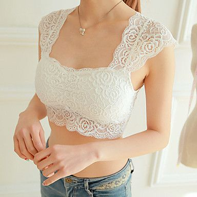 Women's+Cotton+Lace+Wireless+Full+Coverage+Bras+–+USD+$+7.99