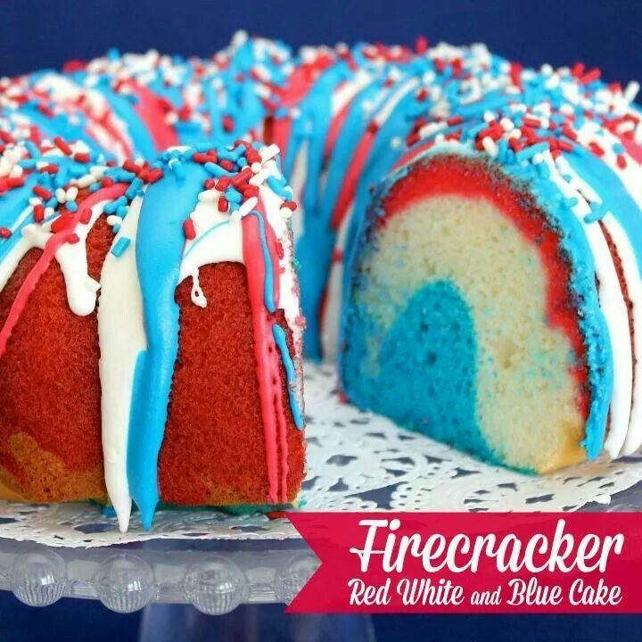 firecracker red white amp blue cake