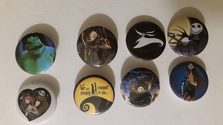 Excited to share the latest addition to my #etsy shop: 8 - 1 1/4 inch Nightmare Before Christmas buttons New! http://etsy.me/2ocAUQt #jewelry #halloween #fantasyscifi #no #unisexadults #plastic #spooky4u2