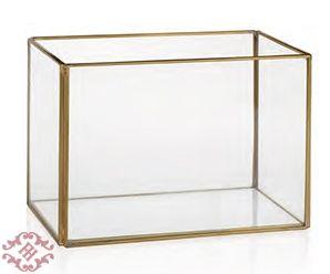 Кашпо ваза золотой Andreahouse L