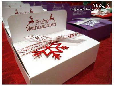 Bettys Crafts: Frohe Weihnachten - Pralinenverpackung