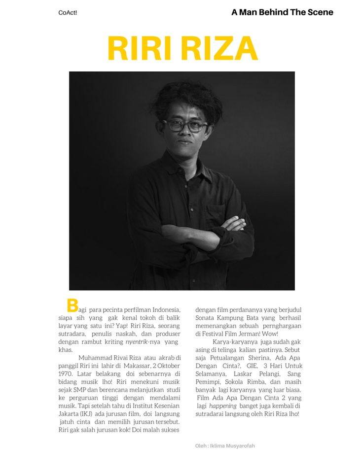 CoAct! Magz Project! A Man Behind The Scene.  design by Iklima Musyarofah