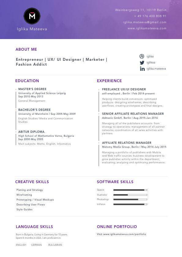 10 best My Portfolio #UX #UI #Freelance #Design images on - ui designer resume