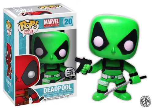 Funko Pop Marvel Glow in The Dark Deadpool Pop Vinyl Custom Exclusive | eBay