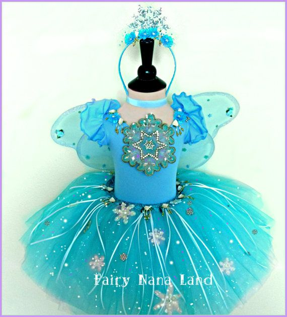 Snowflake Fairy Costume  children's size 2/4  by FairyNanaLand, $87.00