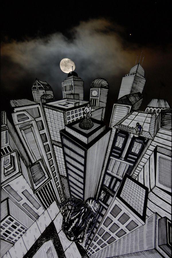 Late in the night by Lele Gastini, via Behance