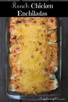 Ranch Chicken Enchiladas Recipe