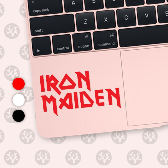 Iron Maiden, Iron Maiden decal, Iron Maiden sticker, Iron Maiden vinyl, guitar sticker, rock band decal, Metallica, Judas Priest by CactusDesignsCo on Etsy