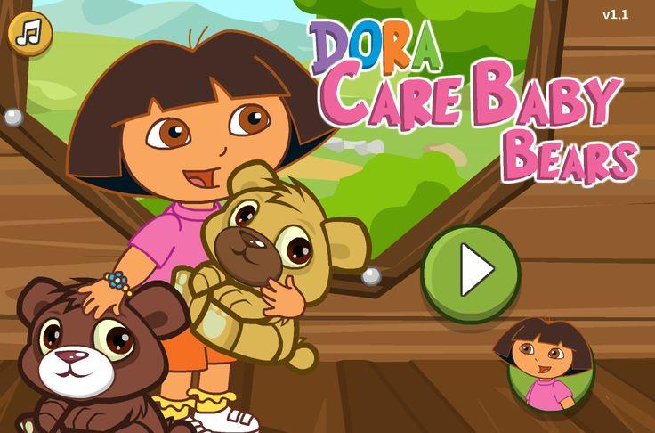 Ayuda a Dora la exploradora a cuidar a bebes ositos, es un trabajo con mucha responsabilidad ya que tienes que bañarlos, limpiarlos y mucho mas para que estén felices y evitar que lloren.