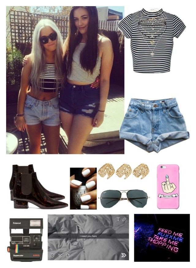 """""""Paris with Lottie/Felicite(as Louis Girlfriend)"""" by onedwithbenefits ❤ liked on Polyvore featuring Maison Margiela, ASOS, Miss Selfridge, Ray-Ban and Polaroid"""