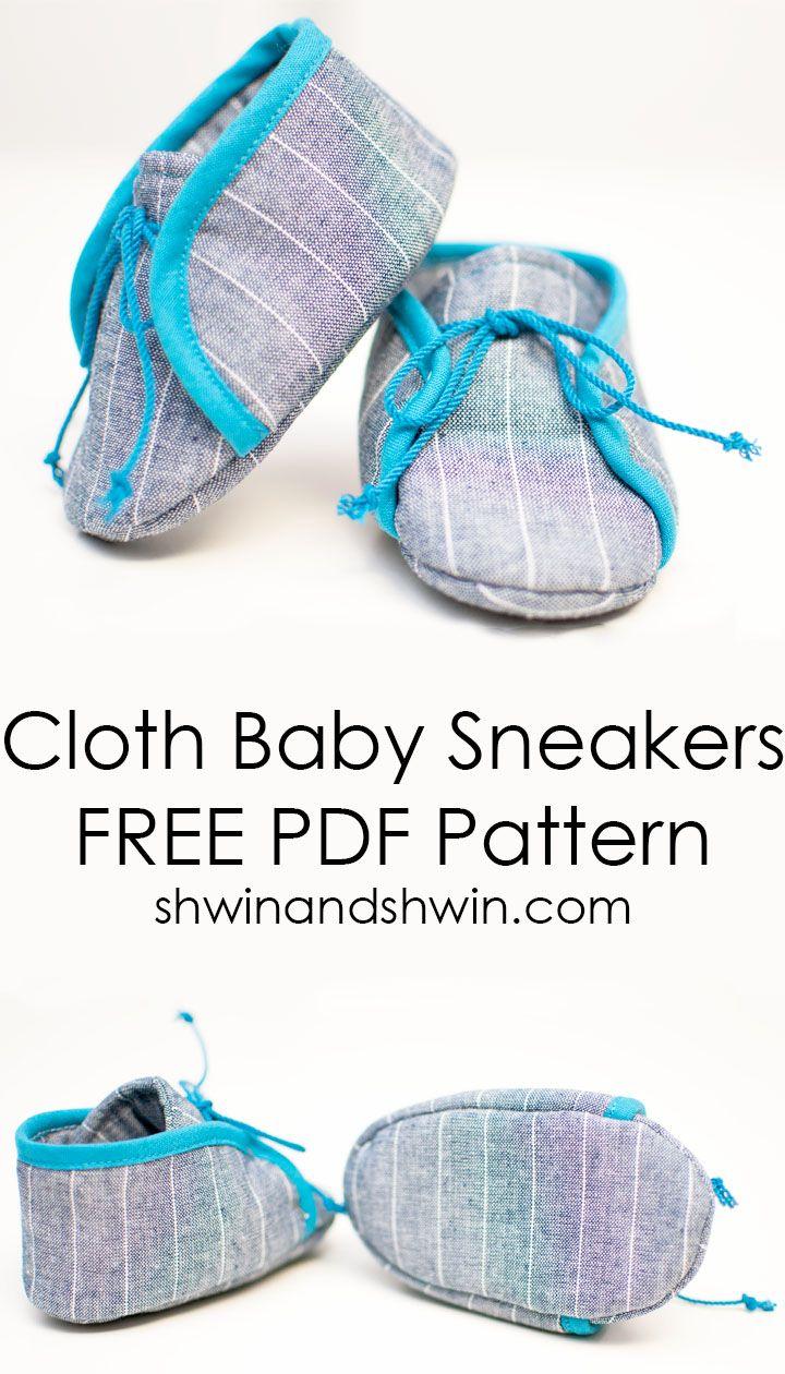 Cloth Baby Sneakers    Free PDF Pattern    Shwin&Shwin