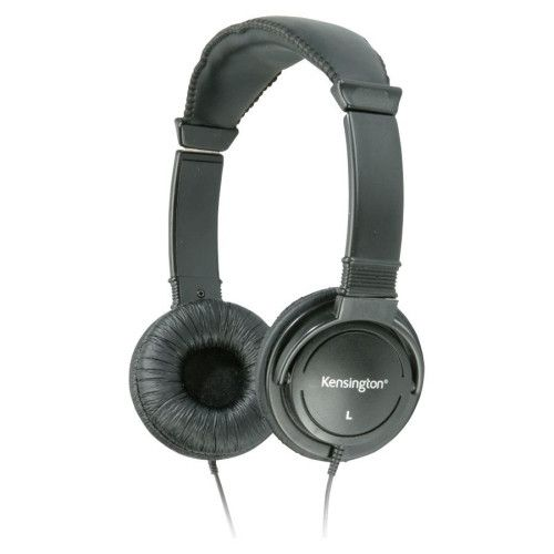 kensington hi-fi headphones, 40mm drive, 9' cord, black