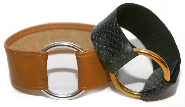 DIY Leather Cuff...  I'm SO doing this: Fashion Rings Diy, Diy Rings Jewelry, Leather Jewelry Diy, Diy Leather, Leather Rings, Leather Cuffs, Diy Bracelets, Rings Bracelets, Leather Bracelets