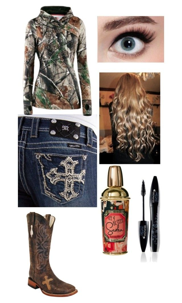 """""""cowboy chaser (;"""" by alexisierra ❤ liked on Polyvore featuring Miss Me, Under Armour and Benefit"""