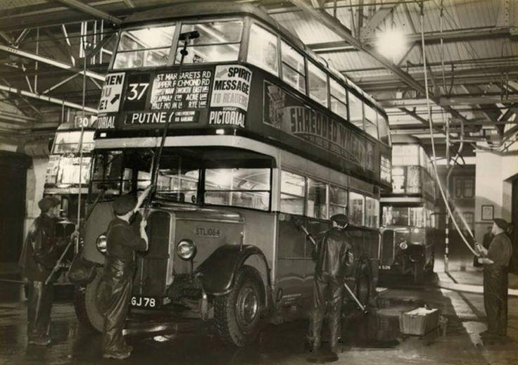 The night shift at Putney Chelverton Rd bus garage 1938