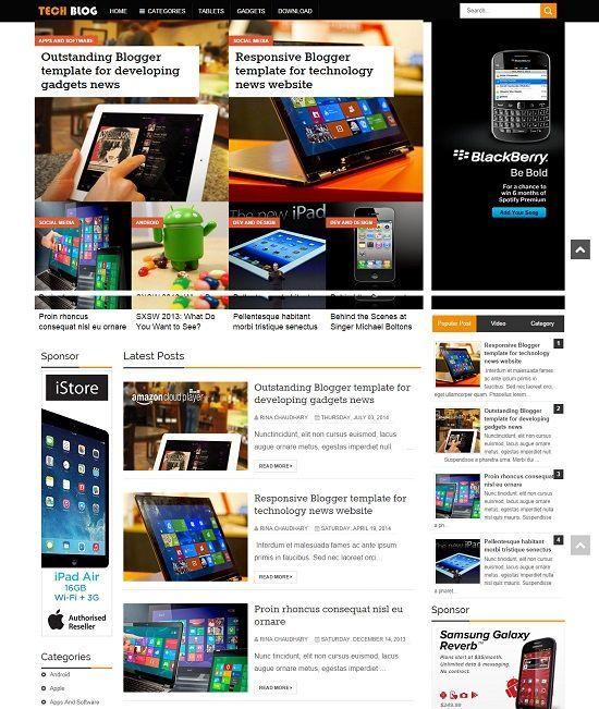 TechBlog Tech Blogger Template http://blogtemplate4u.com/2014/09/techblog-tech-blogger-template/