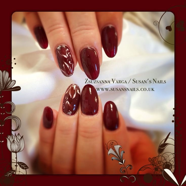 Salon nails using one of my favourite autumn colours 02 red wine.