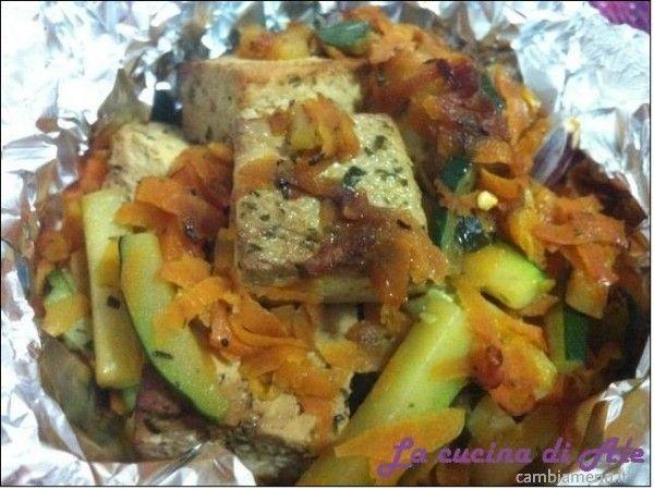 Cambia Menu » Tofu e verdure al cartoccio | Ricette