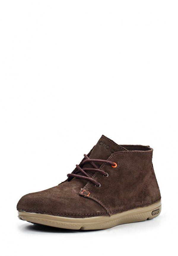Ботинки Crocs / Крокс мужские. Цвет: коричневый. Материал: спилок. Сезон: Осень-зима 2014/2015. С бесплатной доставкой и примеркой на Lamoda. http://j.mp/1nExd18