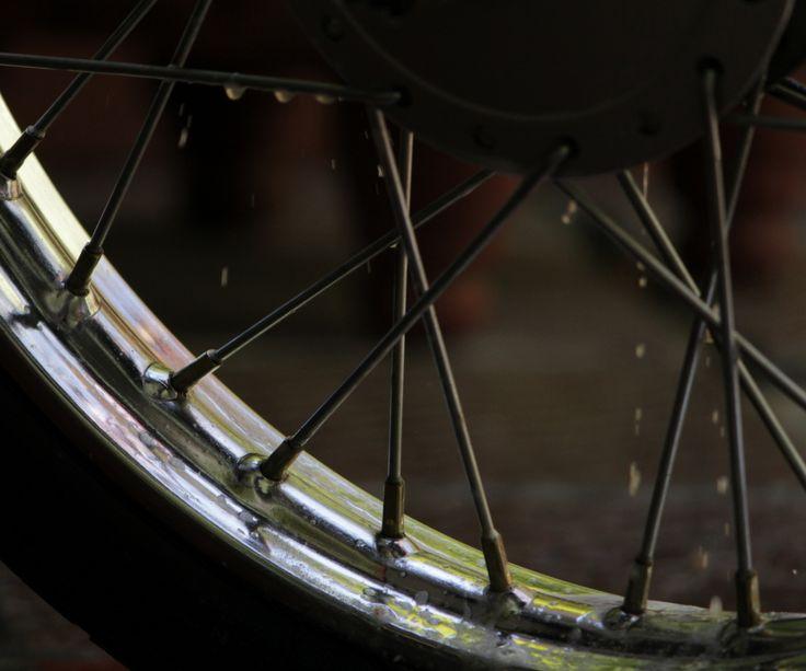 bath to the wheel of my bike