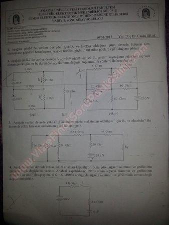 Elektrik Elektronik Müh. Giriş Final Soruları